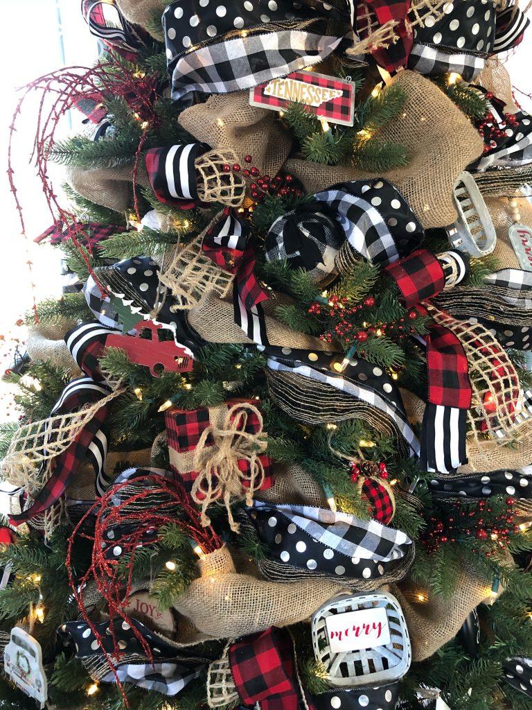 Black And White Buffalo Plaid Christmas Tree Decor Novocom Top